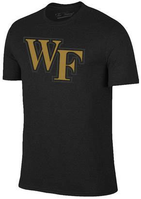 Champion Men Wake Forest Demon Deacons Black Out Dual Blend T-Shirt