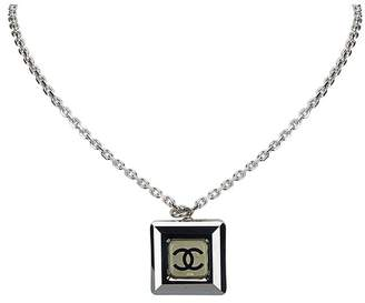 Chanel Vintage Cube Pendant Necklace