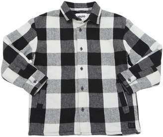 Molo Check Cotton Flannel Shirt Jacket