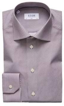 Eton Slim-Fit Tile Print Shirt