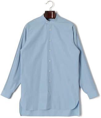 Jil Sander (ジル サンダー) - Jil Sander バンドカラー 長袖シャツ ブルー 38