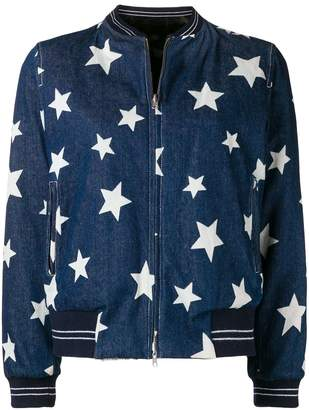Liska star print denim jacket