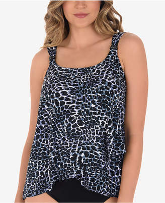 Miraclesuit Luxe Leopard-Print Underwire Tankini Top
