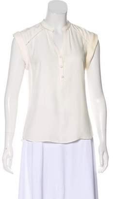 Veronica Beard Silk Short Sleeve Blouse