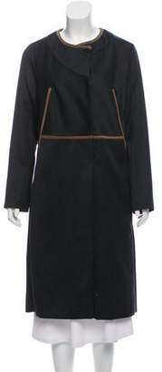 Marni Suede-Trimmed Long Coat