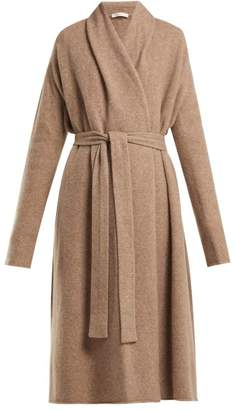 The Row Gioli Long Line Cashmere Blend Cardigan - Womens - Beige