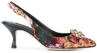 Dolce & Gabbana floral pointed pumps