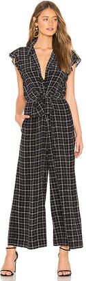 Rebecca Taylor Sleeveless Plaid Silk Jumpsuit