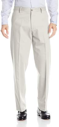 Dockers Relaxed Fit Signature Khaki Pant - Flat Front D4, Black Stretch, 38x34