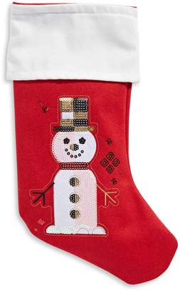 Fao Schwarz Snowman Wool Stocking