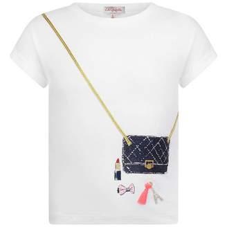 Lili Gaufrette Lili GaufretteGirls White Handbag Print Top