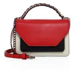 Elena Ghisellini Eclipse Colorblock Leather Shoulder Bag