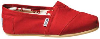 Toms Alpargata 001001B07 Red Canvas Flat