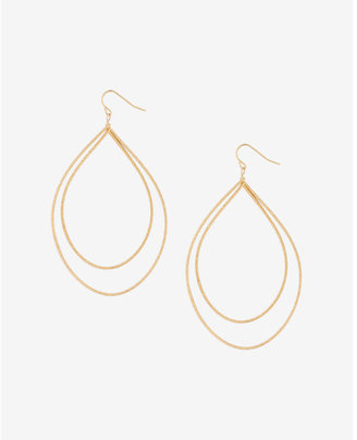 Express Textured Double Teardrop Earrings $19.90 thestylecure.com