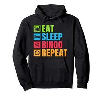 Eat Sleep Bingo Repeat Bingo Hoodie Bingo Pullover
