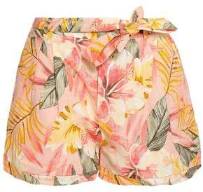 Joie Printed Linen Shorts