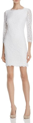 Adrianna Papell Illusion Sleeve Lace Dress $160 thestylecure.com