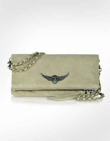 Zadig & Voltaire Rock Suede Leather Clutch