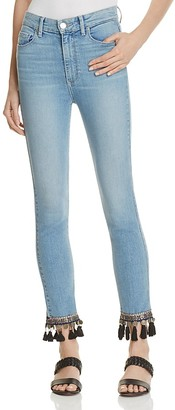 PAIGE Jacqueline Straight Embellished Crop Jeans - 100% Exclusive $299 thestylecure.com