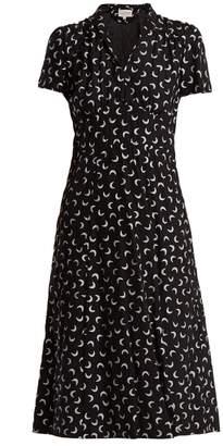 Morgan HVN moon-print silk dress