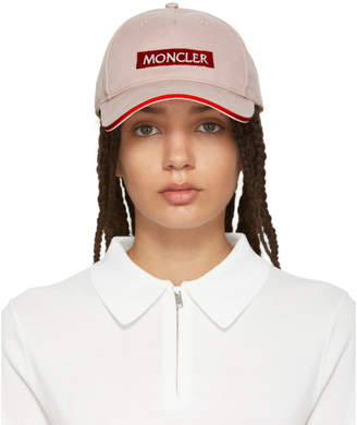 Moncler Pink Logo Cap
