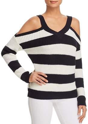 Vero Moda Sibbo Striped Cold-Shoulder Sweater