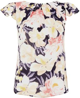 Dorothy Perkins Womens **Billie & Blossom Navy Floral Printed Shell Top