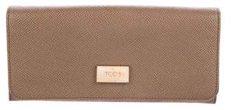 Tod's Textured Continental Wallet