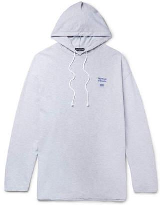 Balenciaga Oversized Printed Cotton-Jersey Hoodie