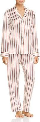 GINIA Striped Silk Long PJ Set