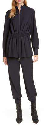 Tibi Double Layered Long Sleeve Jumpsuit