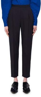 DELPOZO Cropped Slim Wool-Silk Trousers