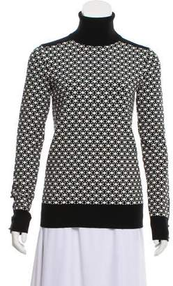Giles Jacquard Turtleneck Sweater