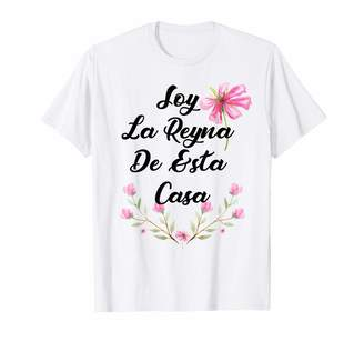 Funny Latina T Shirt For Girls Teens & Women Soy La reyna de esta casa T-Shirt Trendy Latina 2019 Tee T-Shirt