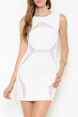 L'atiste Mesh Paneled Dress