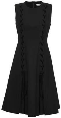 ADEAM Flared Velvet Mini Dress