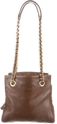 pradaPrada Nappa & Tessuto Chain-Link Bag