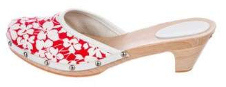 Burberry Round-Toe Floral Mules