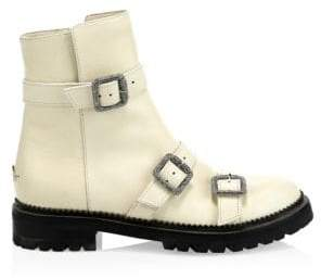 Jimmy Choo Hank Leather Three-Buckle Boots