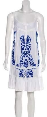 Melissa Odabash Embroidered Knee-Length Dress