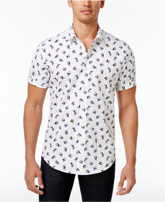 American Rag Men's Skater Bird Graphic-Print Cotton Shirt, Only at Macy's $35 thestylecure.com
