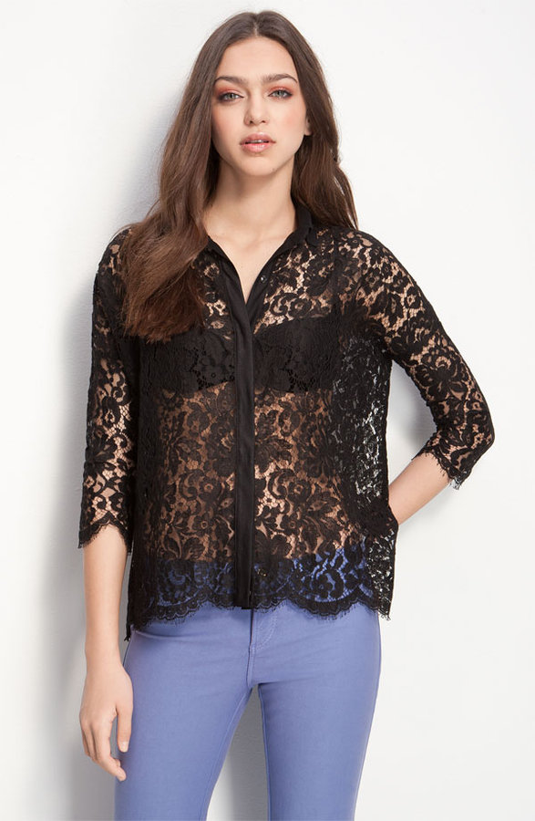 Robert Rodriguez 'All Day' Sheer Lace Shirt
