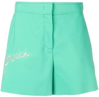 Emilio Pucci Logo Embroidered Shorts