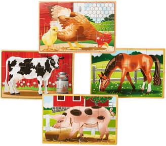 Melissa & Doug Farm Animal Jigsaw Puzzle Box Set