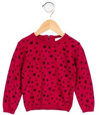 C de C Girls' Printed Long Sleeve Sweater