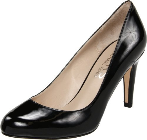 KORS Women's Ghita Pump,Black Patent,8.5 M US