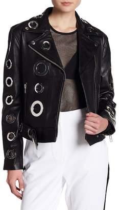 KENDALL + KYLIE Kendall & Kylie Grommet Leather Jacket
