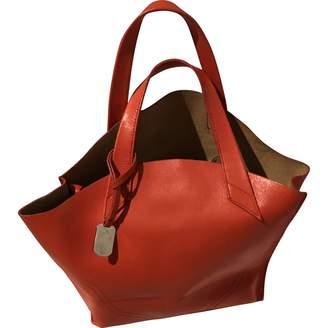 Furla Orange Suede Handbag