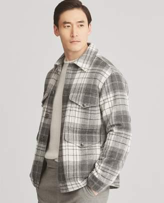 Ralph Lauren Plaid Wool Tweed Jacket