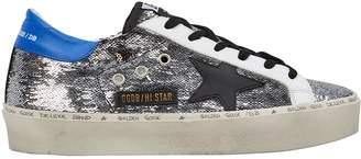 Golden Goose Hi Star Sequin Leather Sneakers